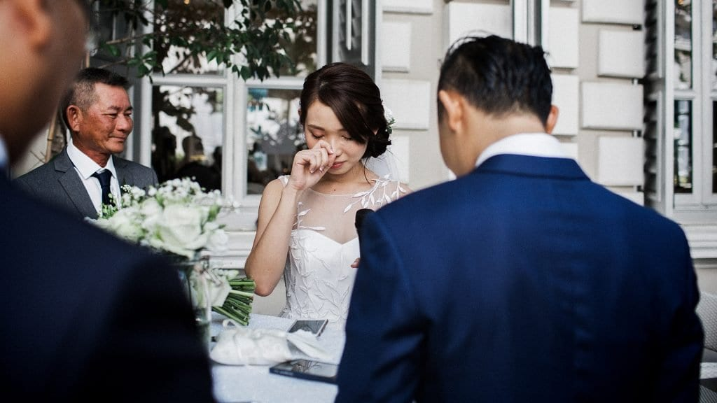 Ronald & Lai Shan's wedding at Flutes National Museum Singapore. Wedding photography by Brian Ho / thegaleria