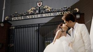 Gerrard & Angela / Anfield Stadium Liverpool FC / Film Wedding Photographer Brian Ho / thegaleria