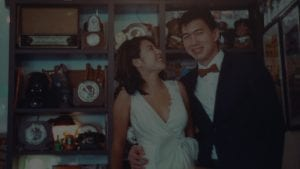 David & Zesamine at Old Habits / The Petzval Experiment / CineStill 800T / Film Wedding Photographer Brian Ho from thegaleria