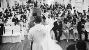 Davis & Samm's Church Wedding at St John's Chapel / Wedding Photography by thegaleria