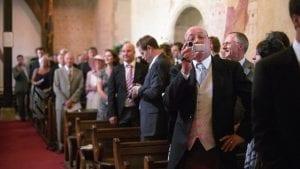 Tom & Emily's wedding at St Margaret's Church, Hampshire, UK. Wedding Photography by Film Wedding Photographer Brian Ho / thegaleria
