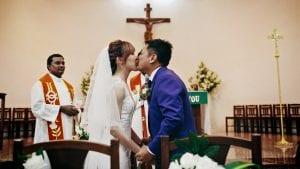 Kenneth & Virnice's Wedding at Church of St Vincent de Paul