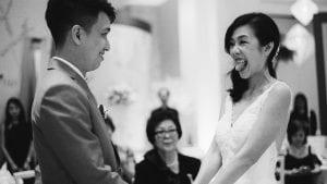 Zuo Yi & Sophia's Wedding by Film Wedding Photographer Brian Ho from thegaleria / Fullerton Hotel / Kodak TRI-X